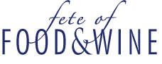 Food and Wine logo identity